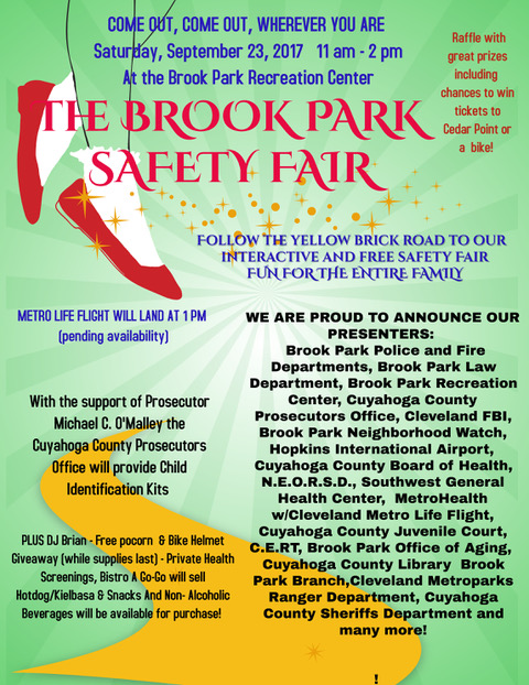 Brook Park Safety Fair September 23