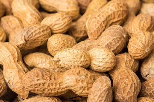 Pile Of Peanuts In Shell Close Up