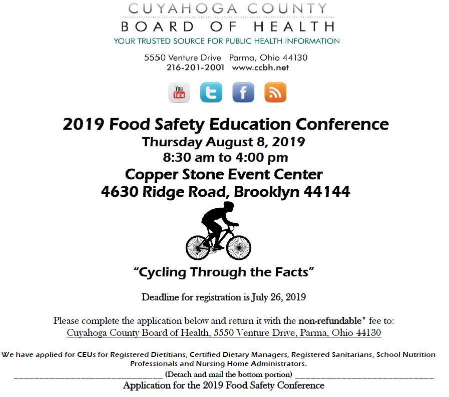 Save the Date 2019 Food Education Conference